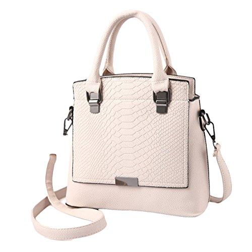 Frau Handtasche Schulter Diagonal Mode Handtaschen Freizeit Rucksack Beige
