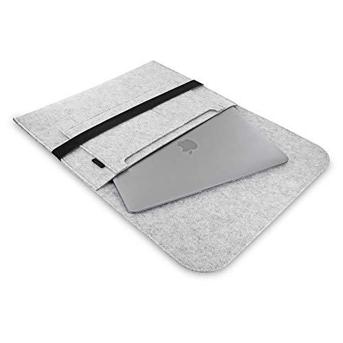 Your Office Laptop Tasche I Für Displaygrößen bis 13,3 Zoll (33,02 cm) I Hell-Grau I Aus Filz I Sleeve I Hülle