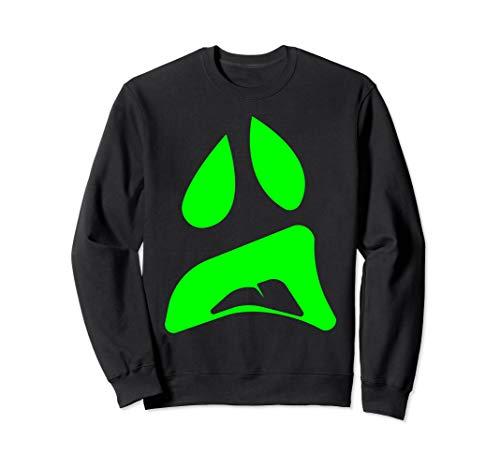 Chupacabra Kostüm - Big Ghost Face - Einfache Paare Halloween-Kostüm Idee Sweatshirt