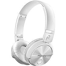 Philips SHB3060WT - Auriculares Bluetooth inalámbricos con sonido potente (manos libres, totalmente plegable)