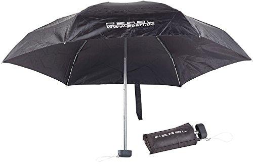 PEARL Mini Schirm: Mini-Regenschirm mit Transporthülle, extraleicht & superkompakt, 16 cm (Mini Taschenschirm)
