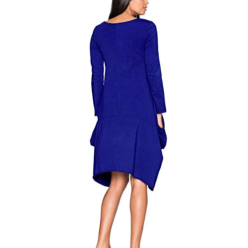 Leezeshaw Damen Kleid Blau ...