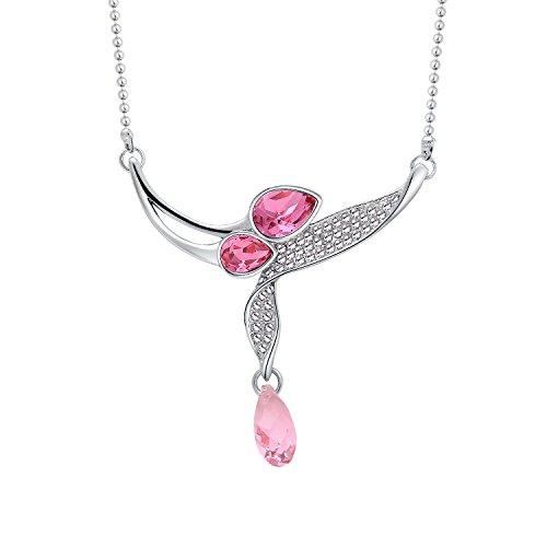 LaxBa Licht Huaye Koreanische Kristall Halskette Kurze Anhänger Artikel Mode Gehobenen Europäischen und Amerikanischen Schmuck, 3 (Drei-licht-anhänger Europa)