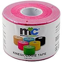 Medicalcorner24® Kinesiologie Power-Tape, 5 m x 5 cm Tape, Farbe Pink, Schmerzbehandlungs-Tape, preisvergleich bei billige-tabletten.eu
