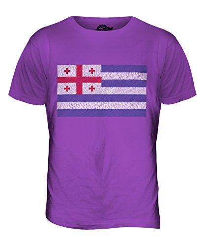 CandyMix Adscharien Kritzelte Flagge Herren T Shirt Violett