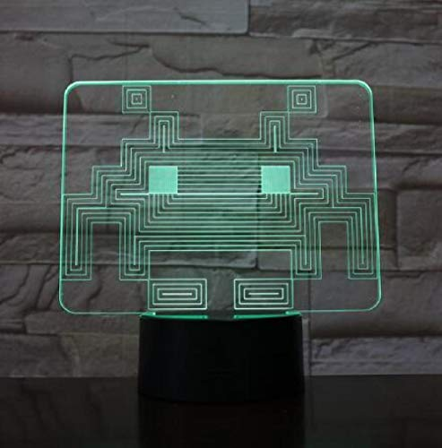 chung Des Sichtlichts 3D Führte Karikatur Usb-Pacman Spielthema-Farbnachtlicht Led-Geistlichtschlafzimmerkinderzimmer-Dekorationsbeleuchtung ()