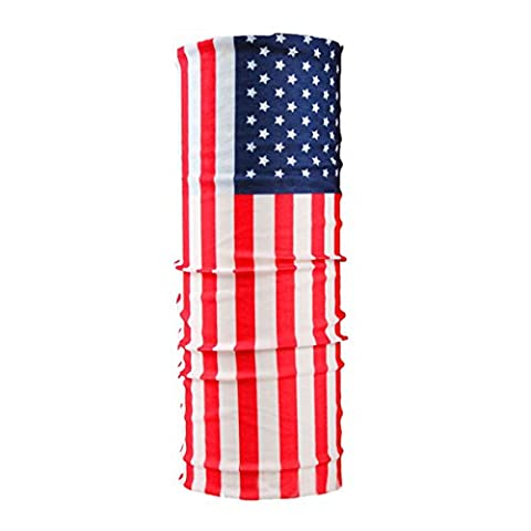 CMJ American Flag USA Biker Balaclava Neck Tube Snood Scarf