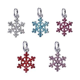 Fenical Snowflake Beads DIY Pendant Bead Bracelet Accessories Pendant Ace Alloy Pendants 5PC