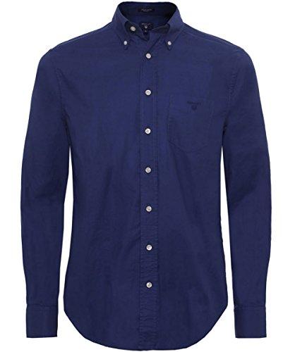 Gant Uomo Camicia Oxford pianura L Blu