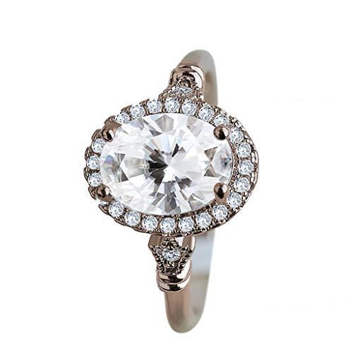 UINGKID Schmuck Damen Ring Art- und Weiseeinfacher kreativer ovaler hohler Diamant-Frauen Ring-Schmuck (Neon Knicklicht Kostüm)