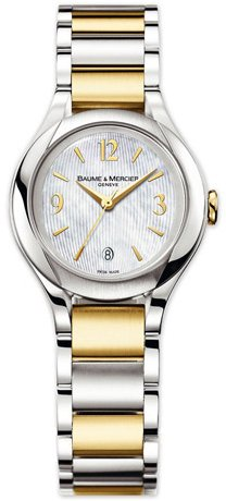 BAUME ET MERCIER ILEA MOA8773 LADIES TWO TONE STAINLESS STEEL DATE WATCH