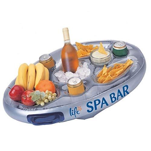 """Offizielle \""""Perfect Pools\"""" Spa Bar Aufblasbare Whirlpool Tisch für Getränke und Snacks - Perfekt für Pool Parties"""