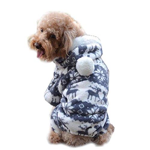 Winwintom Hundemantel, stilvoll, warm, Jumpsuit, Hoodie (Cute Pet Halloween Bilder)