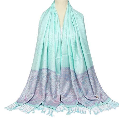 NQING Ladies Embroidered Printed Cotton Scarf Retro Schal Tassels Wilder Schal D 70x200cm