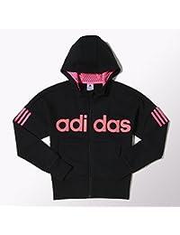 adidas - Sweat-shirt Adidas - YG W LIN FZ HD - Taille 164/14 ans - Couleur Noir