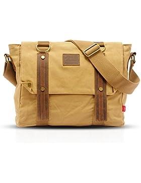 FANDARE Retro Messenger Bag Umhängetasche Schultertasche Laptoprucksäcke Tasche Kuriertasche Canvas