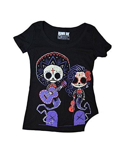 Akumu Ink Damen Premium Tattoo T-Shirt - Timeless Union (Glow in The Dark) (S-L) (L) (Tattoos Sally Jack Und)
