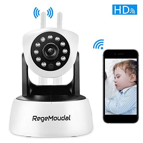 Cámara IP wifi,RegeMoudal 1080P Cámara de Vigilancia Inalámbrico Interiorcon Micrófono y Altavoz,IR...