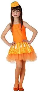 Atosa - Disfraz de naranja para niña, talla L (111-16076)