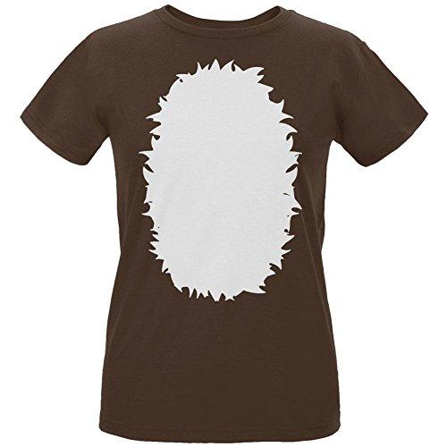 beige Kostüm Womens Organic t-shirt Chocolate MD (Fawn Halloween Kostüm)