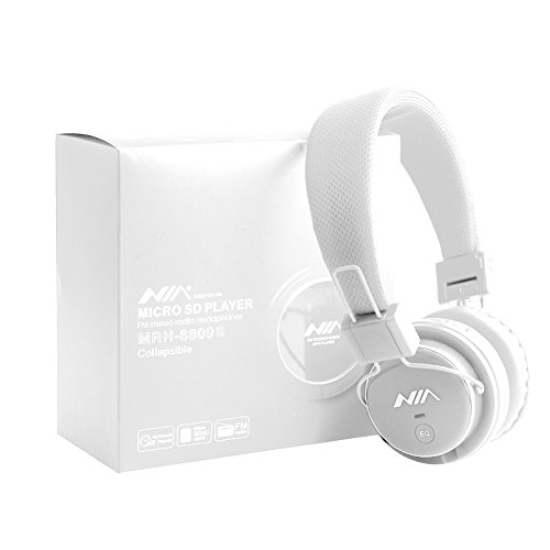 Preisvergleich Produktbild High Quality Micro SD TF Card Headset Headphone USB Audio MP3 Music Player FM Radio (White) can also be use with Aux cable for Apple iPad4 iPhone 5, Ipod All Mp3 Mp4 Players Sony Creative Samsung,  All Laptop Pc And All Devices With A Standard 3.5Mm Jack Plug