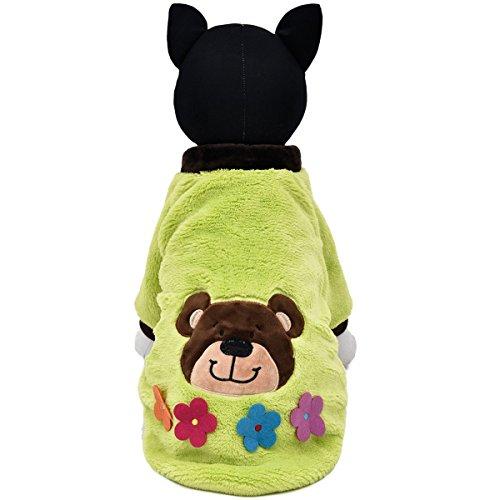 XUJW-PET, Hund Katze Haustiere Halloween Kostüme Samt Mantel Warm Kleidung, Hund Katze Kleidung Pullover, 2 Farben, 5 Größe ( Color : Green , Size : M (Bulldogge Kostüm Baby Französische Für)