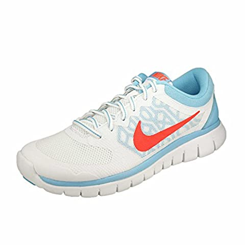 Nike Laufschuhe Flex 2015 Run (GS) Damen, Unisex white-bright crimson-lakeside