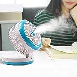 L@LILI Mini Refroidisseur d'air Portable, humidificateur de Bureau air Cooler dortoir Mini USB Ventilateur Petit Bureau Ventilateur sans Lame Silencieux électronique Portable,A