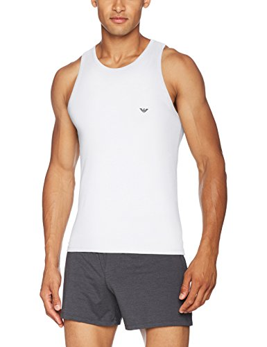 Emporio Armani Underwear Herren 110828CC729 Schlafanzugoberteil, Weiß (BIANCO 00010), Small