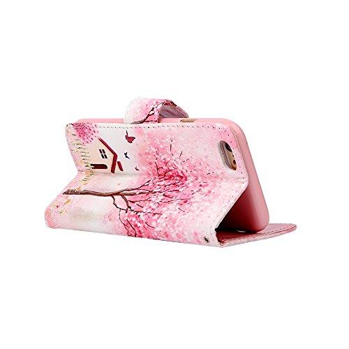 Sunroyal® iPhone 6 Plus (5.5) Bookstyle Étui Housse en PU Cuir Case à Rabat Portefeuille Swag pour Apple iPhone 6 Plus / iPhone 6s Plus (5.5 Pouces) Coque de Protection avec Stand Intérieur TPU Silico C-06