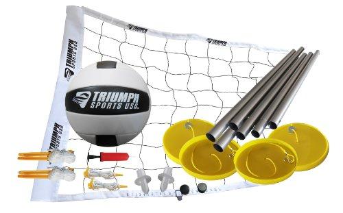 Triumph Beachvolleyball-Set inkl. Netz, Stangen, Volleyball, Aufblaspumpe