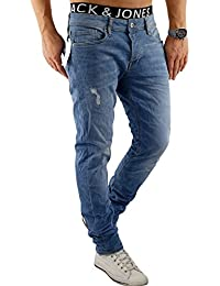 Jack & Jones Herren Slim Fit Jeans Denim Used Look Destroyed