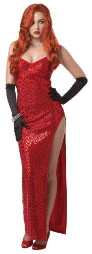 Sexy Rote Film Diva Kostüm Karneval Fasching Verkleidung, Multicoloured, Medium (Bei Den Filmen Fancy Dress Kostüme)