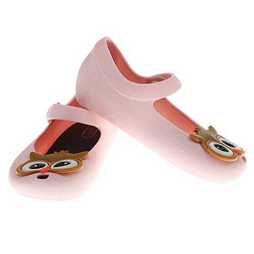 Kinder Mädchen Sandalen Regen Schuh Eule Geleeschuhe Kinder Strandschuhe Clogs Sandalen Sommer Strand Badeschuhe HAUSSCHUHE Rosa