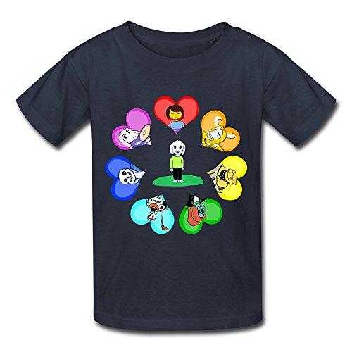 Rose Memery Jungen T-Shirt, Gelb - Navy, M