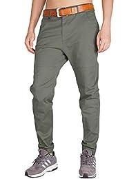 ITALY MORN Pantalón para Hombre Chino Casual Jogging Algodón Slim Fit ... 171b26f04b5