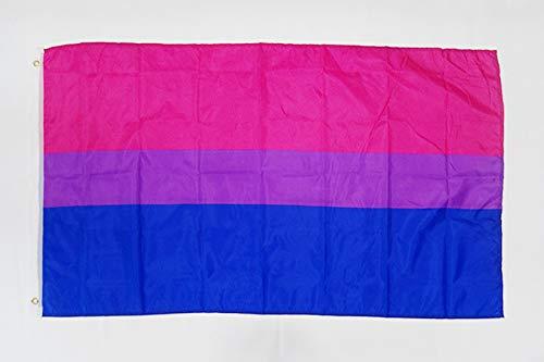 AZ FLAG Flagge BISEXUELLEN 150x90cm - BISEXUALITÄT Fahne 90 x 150 cm feiner Polyester - flaggen