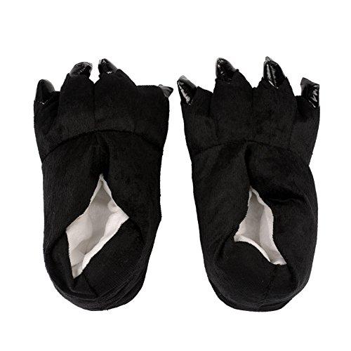 inkint Kawai fumetto tagliato grande zampa bella moda peluche pantofole casa calda d'inverno Indoor pantofole per i regali delle donne della signora Girls di Halloween di Natale per le signore Donna Uomo Bambini