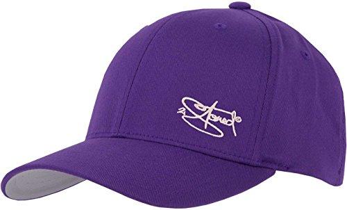 2Stoned Flexfit Cap Purple mit Stick, Größe XS (55 cm - 57 cm), Basecap für Damen, Herren und Kinder