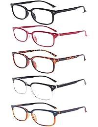 a1108af49a Gonala 5 Paquete Gafas de Lectura Lejos y Cerca Luz Azul Anti Enfoque  Automático Lente de