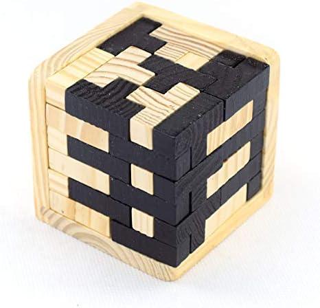 XBDOT  s Jouets Jouets Jouets en Bois Casse-tête Puzzle Kong Ming Lock 3D Genius compétences Construire T-en Forme de Tetris Blocs géométriques intellectuelle Jigsaw Jouet éducatif pour Les  s Adultes | Matériaux Soigneusement Sélectio ea1752