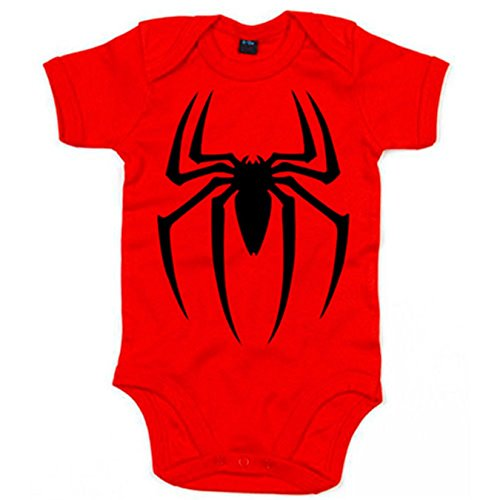 Body bebé Spiderman araña películas - Rojo, 6-12 meses