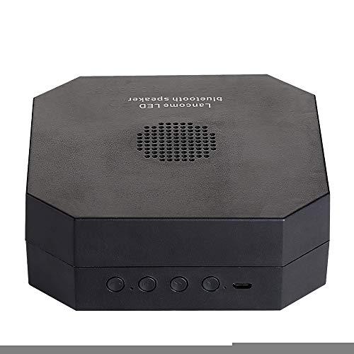LED Buchlampe Orgel Licht, YWXR,360° Faltbare Beleuchtungssystem Nachttischlampe Tischleuchte Multi-Farben Bluetooth Audio Multi-Fold Flip Seite Buchlicht Kreative Atmosphäre Nachtlicht,Black Flip Plus Audio