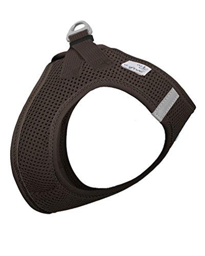 CURLI Brustgeschirr Plush Vest AIR-MESH brown für Hunde S (35 - 40 cm)