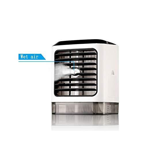SJZC Luftkühler Tragbarer Mini-Luftkühler Keine Geräuschverdampfung Mobile Klimaanlage Tischventilator Negativionen-Klimaanlage Entfernen Sie Bakterien, um die Luft zu reinigen