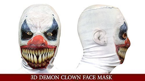 Demon Clown 3D Gesicht, Sensenmann, Hergestellt In Yorkshire