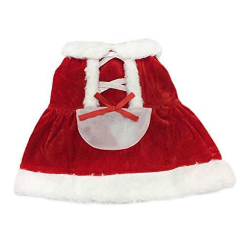 Weihnachtsmann Cosplay Hundekostüme mit Kapuze Haustier Weihnachtskleider Wintermantel Welpen Hundemantel Weiche Hundebekleidung Rot Kleid XS