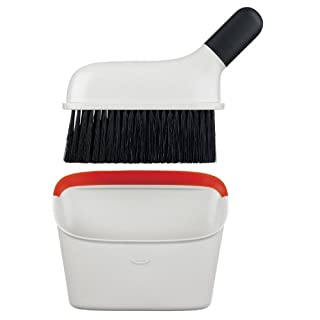 OXO Good Grips Compact Dustpan and Brush Set - Black/White/Red