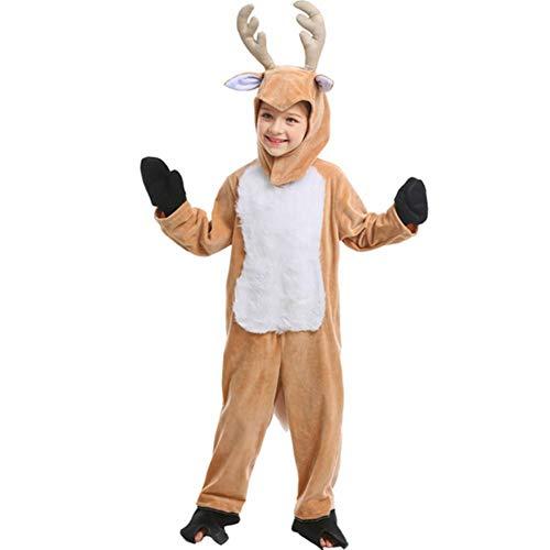 Kostüm Rentier Männliche - GUAN Kindertag Kostüme Halloween COS Tiere Spielen Weihnachten Rentier Kinder Performance Kostüme