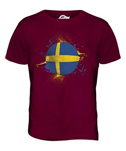 CandyMix Schweden Fußball Herren T Shirt Burgunderrot
